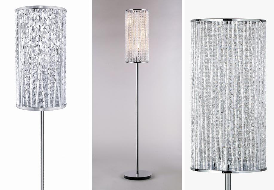 Emilia Crystal Drum Floor Lamp Design