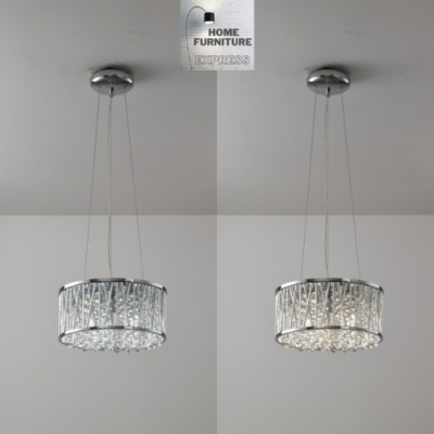 Emilia Design Crystal Drum pendant Gold Light