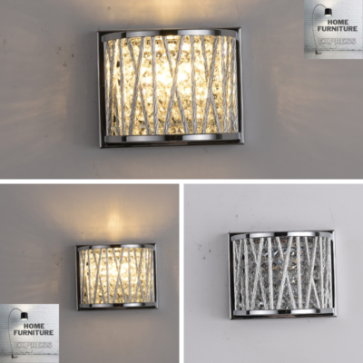 Emilia Jazzy Wall Light, Chrome