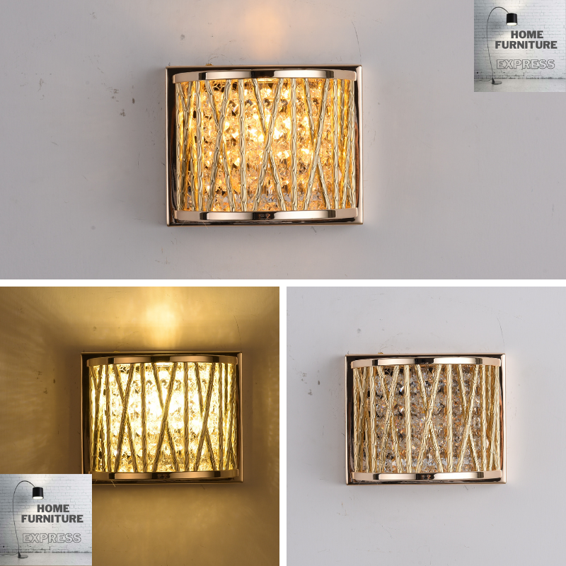 Emilia Jazzy Wall Light, Gold