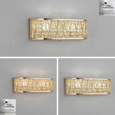 Emilia Design Crystal Drum Wall Light Gold